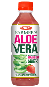 OKF Farmer's aloe vera strawberry 500ml